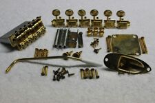 """Fender Stratocaster Aged Relic Gold USA 2 3/16"""" Hardware Set w/ tuners - Strat"""