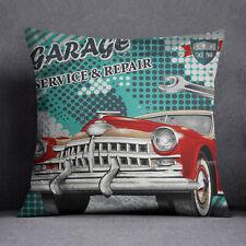 S4Sassy Vintage Car Print Decorative Square Multicolor Cushion Cover Throw