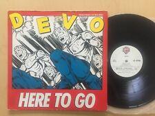 "DEVO ""HERE TO GO / SHOUT"" ORIGINAL 4 TRACK MAXI SINGLE 1984 PROMO NM VINYL 12"""