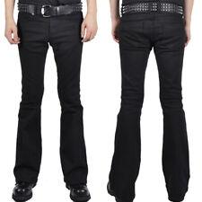Trash and Vaudeville Rockstar Stretch Mens Denim Rocker Flare Jeans Pants Black