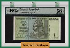 TT PK 88 2008 ZIMBABWE 10 TRILLION DOLLARS PMG 68 EPQ SUPERB GEM UNCIRCULATED!