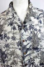 Mens Vtg 90s  HAWAIIAN Rockabilly SILK Havana Jacks Cafe Xtra Large Summer Shirt
