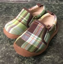 Baby Gap Toddler Boy's Brown With Plaid Causal Loafers Shoes sz 3 Infant - NEW