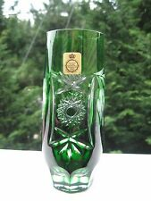 Bleikristall Diamantschliff Gorgeous Eleg Emerald GreenEtched Design Water Glass