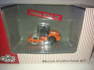 HO SCALE  1:87 OUT OF PRODUCTION NZG DIE CAST HAMM 3414 HT SINGLE DRUM ROLLER