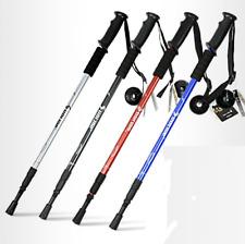 Trekking Walking Hiking Sticks Poles Alpenstock Anti-shock 65-135cm Black