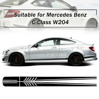 Stripe Side Decal Sticker BK Black Car DIY For Mercedes/Benz C Class W204