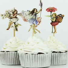 Party Picks For Child Cartoon Girls Toppers Flower Fairy Wedding Cupcake Decor