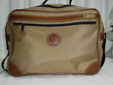 Vintage AMERICAN FLYER Travel Bag Brown Satchel/Shoulder Paisley Lining