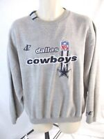 Dallas Cowboys NFL Mens Sweater Sz Large Gray Logo Athletics Pro Line AA289