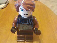 "2010 LEGO STAR WARS ANAKIN SKYWALKER 9"" POSEABLE FIGURE ALARM CLOCK - NICE"