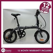 Micro E-Bike 16 Electric Bike Folding Compact Matt Grey Adult Cycle Ride