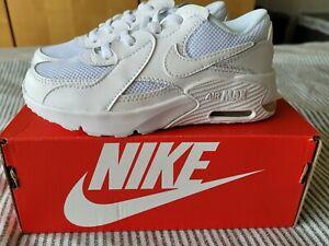 NIKE Air Max Junior Trainers White White UK Size 10.5 EU 28 *NEW IN BOX*
