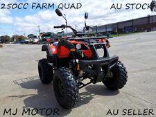250CC Farm Quad ATV 4 Wheel Buggy Dirt Bike Go kart Manual 4+1 Trike Rear Rack