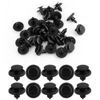 New 10pc Black Plastic Hole Car 7mm Bumper Fender Retainer Push Clips Fasteners