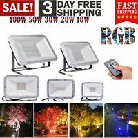 10W-100W RGB LED Flood Light Outdoor Commercial Landscape Spotlight Lamp US