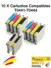10 TINTAS NON OEM PARA EPSON STYLUS CX3650 T0441 T0442 T0443 T0444 441 18ML C64