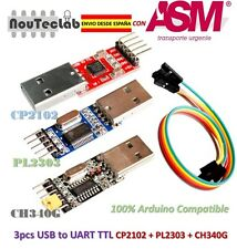 3pcs USB to TTL Module PL2303 + CP2102 + CH340 USB UART Module