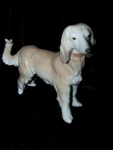 Lladro 'Afghan Hound' Retired New-Old Stock, #9143