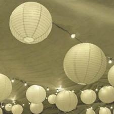 24x white paper lanterns lights wedding anniversary birthday party venue decor