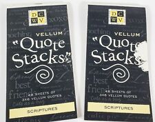 DCWV Vellum Quote Stacks 3x6 (Set of 2) Scriptures Bible Verses God (89 pages)