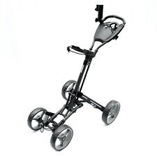 Golf Push Buggy Cart One Click Fold 4 Wheel Trolley Push and Pull Stinger SG-4