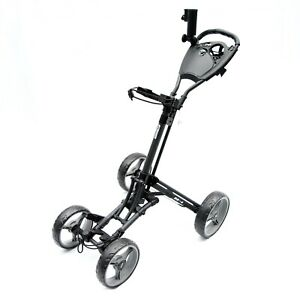 Golf Buggy Push Cart One Click Fold Lightweight and Compact Design Stinger SG-4