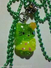 "28"" Hello Kitty Cat Resin Charm Pendant Necklace New GR4"