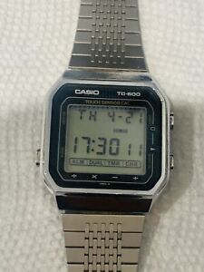 1980 All Original CASIO TC-600 (119) Touch Screen Calculator Japan JU 33mm
