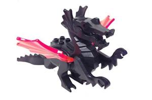 Lego Classic Dragon 6097 6099 6047 Trans-Neon Orange Wings Animal Figure