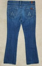 Seven 7 for all Mankind Womens Jeans 29 medium wash inseam 33 boot Flare leg