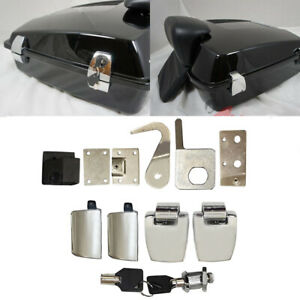 Premium Hardware Latches Hinges Lock fit for Harley Davidson Tour Pack 2006-2013