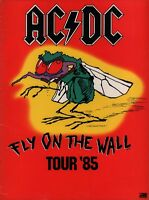 AC/DC 1985 FLY ON THE WALL US TOUR CONCERT PROGRAM BOOK / ANGUS YOUNG / EX 2 NMT