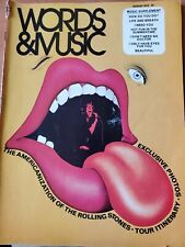 Words and Music Magazine August 1972 Rolling Stones Cover Story Back Cover Rs Ad