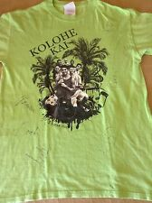 Kolohe Kai Autographed Guam 2011 Concert Green Youth Shirt Size Large 14-16