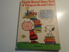 Charlie Brown'S Super Book Of Things To Do And Collect 1975 Random House usa