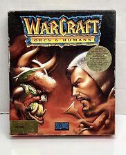 Vintage Warcraft Game Orcs & Humans Blizzard 1994 3.5 MS-DOS 4 Disks Version