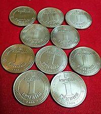 10 coins x 1 HRYVNIA UKRAINE UAH GRIVNA Coin 2006 year Vladimir Great