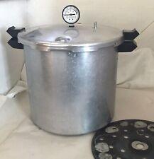 PRESTO 23 Quart Aluminum Pressure Cooker Canner 0178003 Dial Gauge, Rack - READ