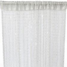 Rideaux et cantonnières blanc en ruban supérieur pour la chambre