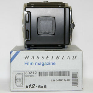 Hasselblad A12 Chrome Latest film Magazine Boxed & Mint Minus Condition