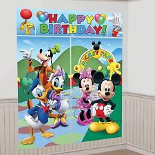 Disney Mickey Mouse Clubhouse 5pce Scene Setter 150cm Party Decoration Set