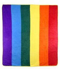 Rainbow Gay Pride LGBTQ 50x60 Polar Fleece Blanket Throw Plush Soft