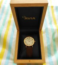 AVIA ~ Classic ~ Men's 9ct/9k Solid Gold Watch With Original Box