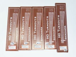 HO Scale LOT of 5 Con-Cor Shinohara #4 #6 Turnout Track Code 100 Nickel Silver