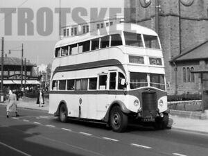 35mm Negative Blackpool Transport Leyland TD4 Burlingham 147 FV8989 1957