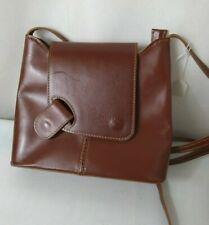 L'ARTIGIANO Ladies handbag brown leather shoulder or crossbody bag made in Italy