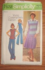 SIMPLICITY 7572 SEWING PATTERN DIY YOUNG CONTEMPORARY FASHION