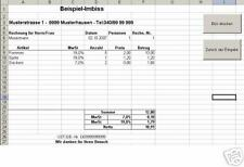 Kassensoftware Kasse Kassenprogramm auf d. PC mit Excel