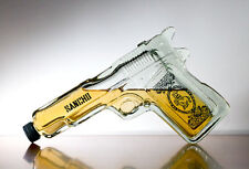 Pistol Gun Shaped Glass Tequila Bottle liquor spirits handgun